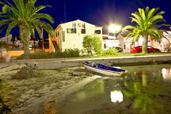 Petrcane village evening waterfront view Royalty Free Stock Photo