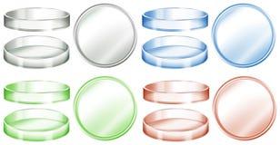 Petri disk i olika färger royaltyfri illustrationer