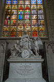 Petri Josephi Triest memorial in Cathedral of St. Michael and St. Gudula Stock Photos
