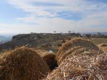 Petrichа fästning nära byn Razdelna Arkivbilder