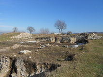 Petrichа Fortress near the village Razdelna Stock Image