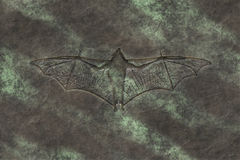 Petrified bat Stock Photography