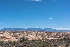 Petrified Dunes in Arches National Park, Utah. View of the field of Petrified Dunes in Arches National Park, Utah Stock Photos