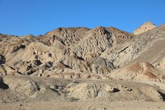 Petrified Dunes in Death Valley National Park. California Royalty Free Stock Photo