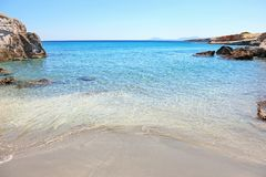 Petrified Forest beach Lakonia Peloponnese Greece Royalty Free Stock Photos