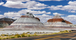 Petrified Forest National Park. Colourfull sands mountains at Petrified Forest National Park Stock Image