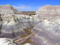 Petrified Forest National Park landscape, Arizona, USA Stock Photos