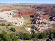 Petrified Forest National Park landscape, Arizona, USA stock photo