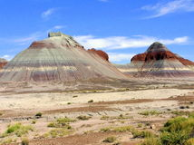 Petrified Forest National Park landscape, Arizona, USA Royalty Free Stock Images