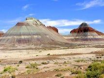 Petrified Forest National Park landscape, Arizona, USA Royalty Free Stock Images