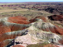 Petrified Forest National Park landscape, Arizona, USA Stock Photography