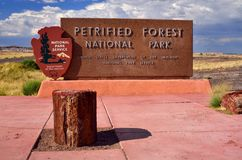 Petrified Forest National Park Sign Board Royalty Free Stock Images