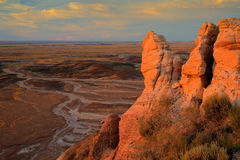 Petrified Forest National Park. At sunset Stock Image