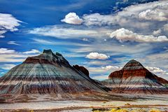 Petrified Forest National Park. The Teepees  in Petrified Forest National Park Stock Image