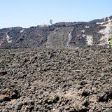 Petrified lava flow close up on slope of Etna Stock Photography