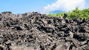 Petrified lava flow after volcano Etna eruption Stock Image
