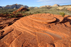 Petrified Sand Dunes - Snow Canyon, Utah Stock Photo