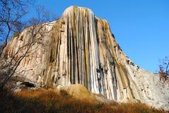 Petrified Waterfall Mexico stock photography
