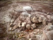 Petrified Wood and Desert. This was taken at the Petrified Forest National Park in Arizona. The picture includes petrified wood and desert Stock Images