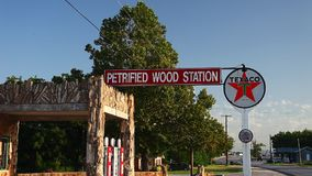 Petrified Wood Station in Decatur Texas. stock footage