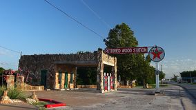 Petrified Wood Station in Decatur Texas. stock video