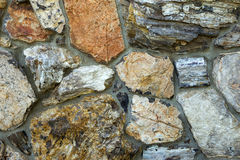 Petrified Wood Wall Detail Stock Photos