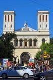 Petrikirche op Nevskiy-vooruitzicht in St. Petersburg royalty-vrije stock foto