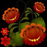 Petrikov painting. Traditional Ukrainian national flower pattern Stock Photos
