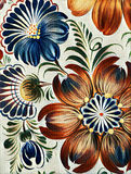 Petrikovka`s painting stylized prizma filters. Colorful painting flower with leaves. Traditional Ukrainian painting. Royalty Free Stock Image