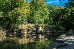 Petrin小山的池塘 库存照片