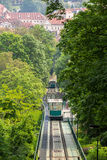 Petrin funicular in Prague, Czech Republic Stock Image