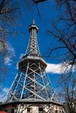 Petrin Lookout Tower in Prague. Built on 1891 royalty free stock photos