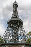 Petrin Lookout Tower in Prague Stock Photo