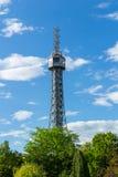 Petrin Lookout Tower (1892), resembling Eiffel tower, Petrin Hill Park, Prague, Czech Republic.  Stock Photos