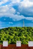 Petrin Lookout Tower (1892), resembling Eiffel tower, Petrin Hill Park, Prague, Czech Republic.  Stock Photography