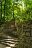 Petrin park. A stair case at the Petrin Park in Prague, Czech Republic stock photography