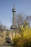 Petrin tower. Prague Stock Photos