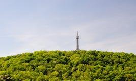 Petrin tower in Prague Stock Image