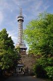 Petrin tower in Prague Stock Photo