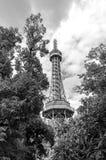 Petrin Tower in Prague BWPetrin Tower in Prague BW Stock Image