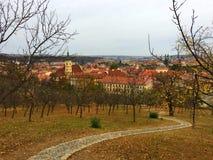Petrin trädgårdar, Prague royaltyfri fotografi