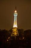 Petrin-Turm bis zum Nacht Lizenzfreies Stockbild