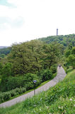 Petrin wzgórze Zielony park petrin Prague wierza zdjęcia stock