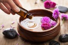 Petróleo esencial para aromatherapy Fotografía de archivo libre de regalías