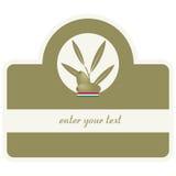 Petróleo verde-oliva/etiqueta Foto de Stock Royalty Free
