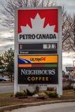 Petro加拿大标志 免版税库存照片