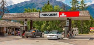 Petro加拿大贾斯珀国家公园 库存照片