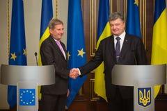 Petro波罗申科和约翰尼斯哈恩 免版税库存照片