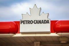 Petro Canada Signage royalty-vrije stock foto