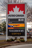 Petro Canada Signage Royalty Free Stock Photos